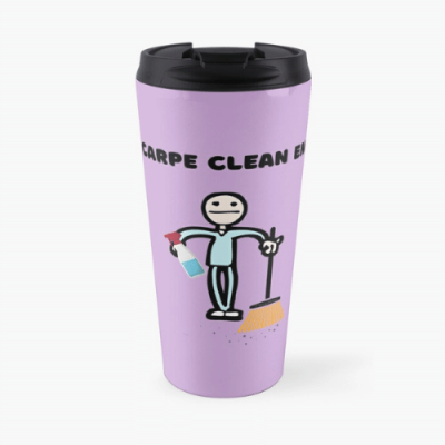 Carpe Clean Em Savvy Cleaner Funny Cleaning Gifts Travel Mug