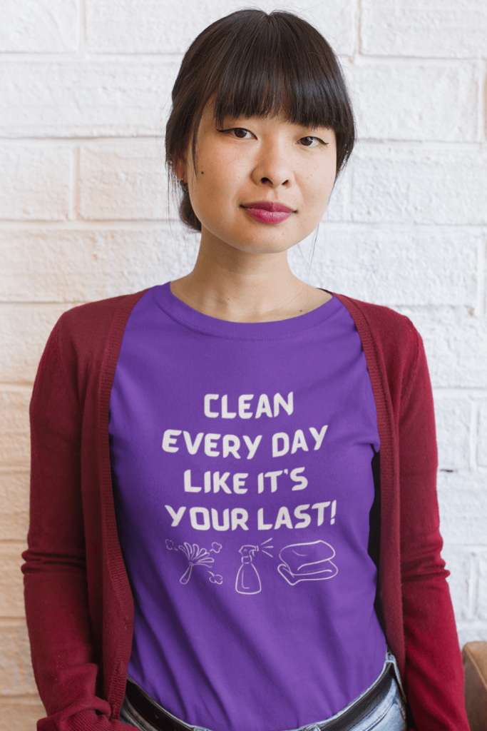 Clean Every Day Savvy Cleaner Funny Cleaning Shirts Women's Boyfriend T-Shirt