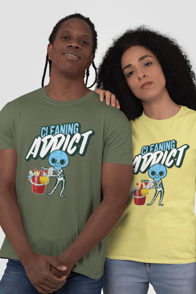 Cleaning Addict Savvy Cleaner Funny Cleaning Shirts Standard T-Shirt