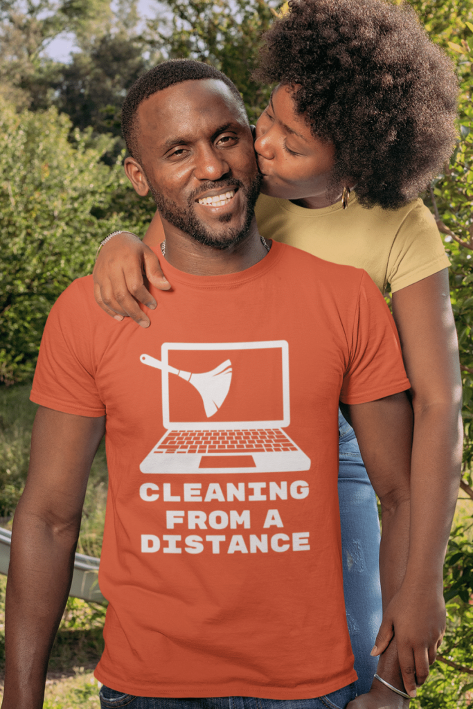 Cleaning from a Distance Savvy Cleaner Funny Cleaning Shirts Standard T-Shirt