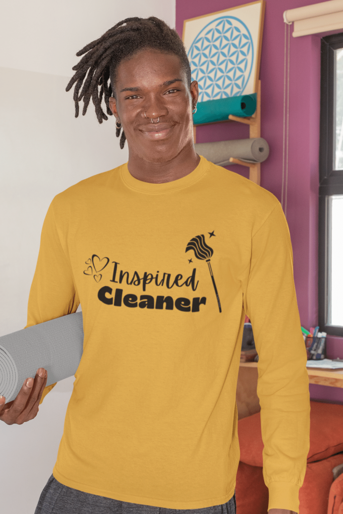 Inspired Cleaner Savvy Cleaner Funny Cleaning Shirts Classic Long Sleeve Tee
