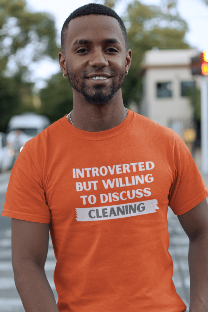 Introverted Savvy Cleaner Funny Cleaning Shirts Men's Standard T-Shirt