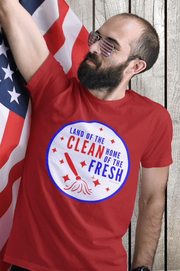 Land Of The Clean Savvy Cleaner Funny Cleaning Shirts Classic Tee