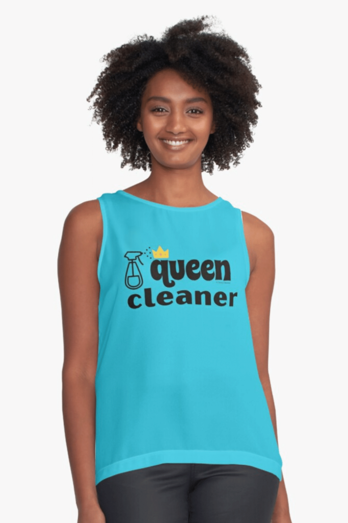 Queen Cleaner Savvy Cleaner Funny Cleaning Shirts Sleeveless Top
