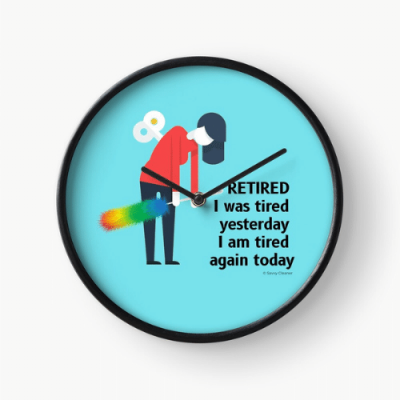 Retired Savvy Cleaner Funny Cleaning Gifts Clock