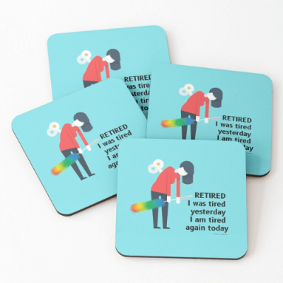 Retired Savvy Cleaner Funny Cleaning Gifts Coasters