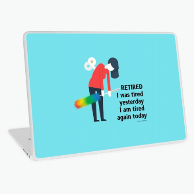 Retired Savvy Cleaner Funny Cleaning Gifts Laptop Skin