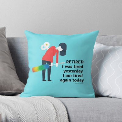 Retired Savvy Cleaner Funny Cleaning Gifts Throw Pillow