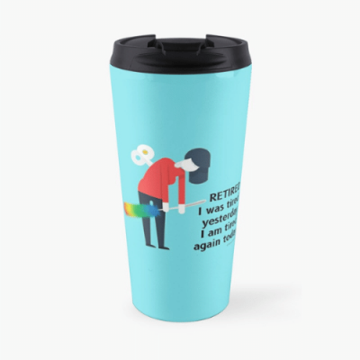 Retired Savvy Cleaner Funny Cleaning Gifts Travel Mug