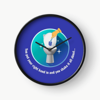 Shake it All About Savvy Cleaner Funny Cleaning Gifts Clock