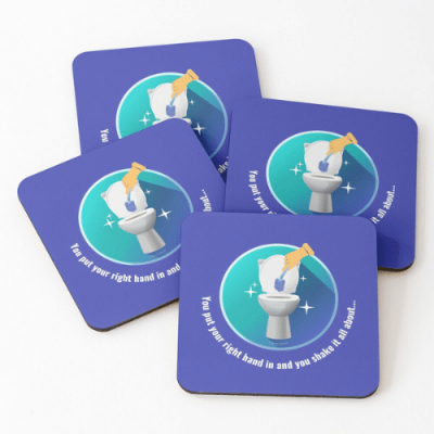 Shake it All About Savvy Cleaner Funny Cleaning Gifts Coasters