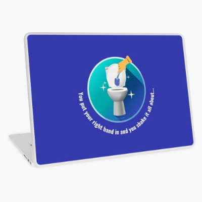 Shake it All About Savvy Cleaner Funny Cleaning Gifts Laptop Skin