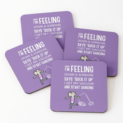 Start Dancing Savvy Cleaner Funny Cleaning Gifts Coasters