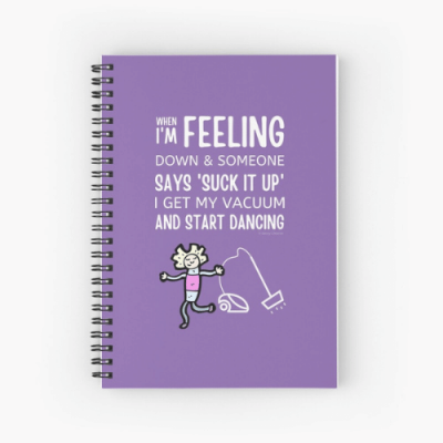Start Dancing Savvy Cleaner Funny Cleaning Gifts Spiral Notebook