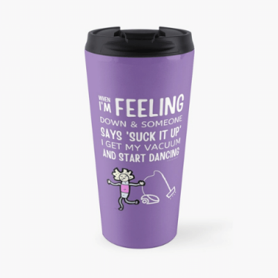 Start Dancing Savvy Cleaner Funny Cleaning Gifts Travel Mug