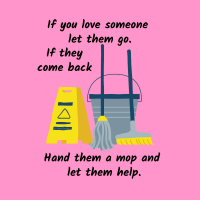 461 Let Them Go Savvy Cleaner Funny Cleaning Shirts B