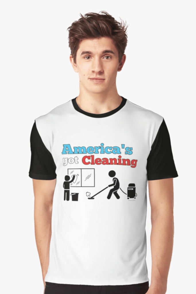America's Got Cleaning Savvy Cleaner Funny Cleaning Shirts Graphic Tee