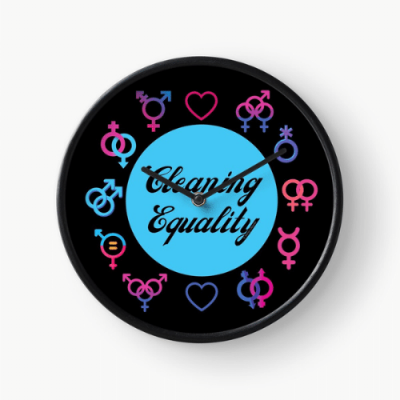 Cleaning Equality Savvy Cleaner Funny Cleaning Gifts Clock
