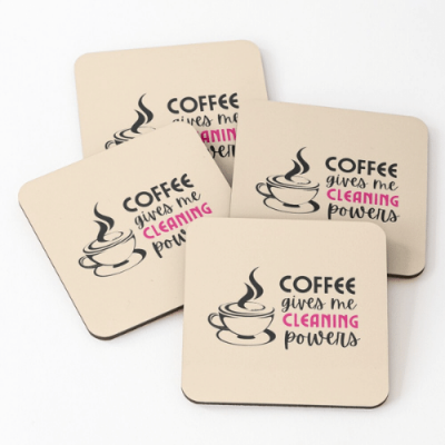 Cleaning Powers Savvy Cleaner Funny Cleaning Gifts Coasters