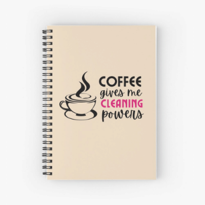 Cleaning Powers Savvy Cleaner Funny Cleaning Gifts Spiral Notebook