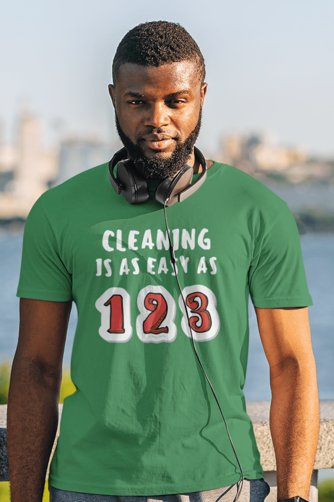 Cleaning is as Easy Savvy Cleaner Funny Cleaning Shirts Men's Standard Tee