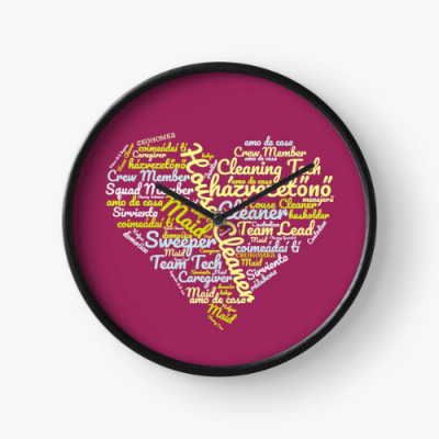 House Cleaner Wordcloud Savvy Cleaner Funny Cleaning Gifts Clock