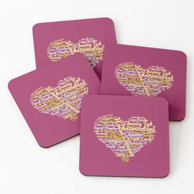 House Cleaner Wordcloud Savvy Cleaner Funny Cleaning Gifts Coasters
