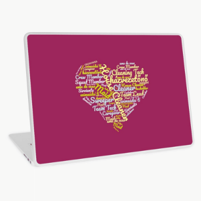 House Cleaner Wordcloud Savvy Cleaner Funny Cleaning Gifts Laptop Skin