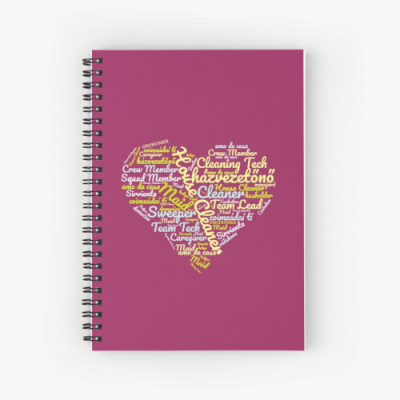 House Cleaner Wordcloud Savvy Cleaner Funny Cleaning Gifts Spiral Notebook