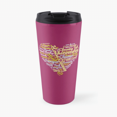 House Cleaner Wordcloud Savvy Cleaner Funny Cleaning Gifts Travel Mug
