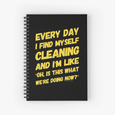 I Find Myself Cleaning Savvy Cleaner Funny Cleaning Gifts Spiral Notebook