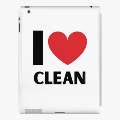 I Love Clean Savvy Cleaner Funny Cleaning Gifts ipad Snap Case