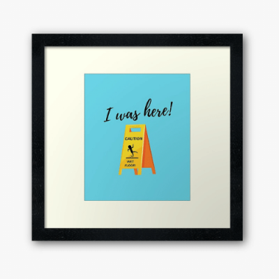 I Was Here Savvy Cleaner Funny Cleaning Gifts Framed Art