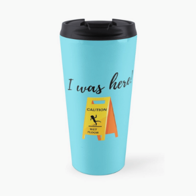 I Was Here Savvy Cleaner Funny Cleaning Gifts Travel Mug