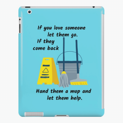Let Them Go Savvy Cleaner Funny Cleaning Gifts iPad Snap Case
