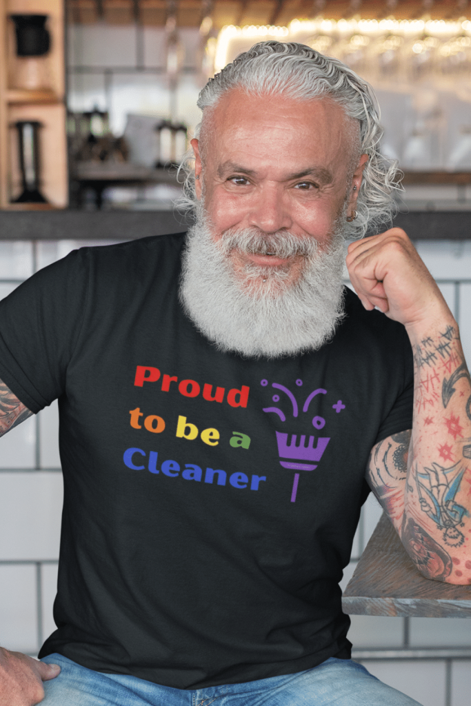 Proud to Be a Cleaner Savvy Cleaner Funny Cleaning Shirts Men's Standard Tee