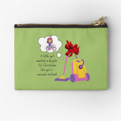 Wanted a Bicycle Savvy Cleaner Funny Cleaning Gifts Zipper Pouch