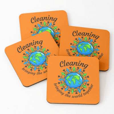 Bringing The World Together Savvy Cleaner Funny Cleaning Gifts Coasters