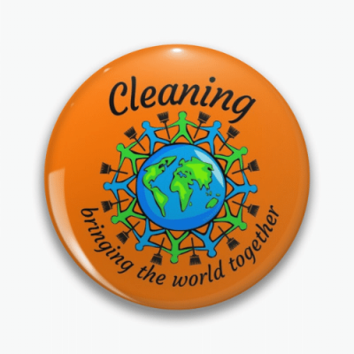Bringing The World Together Savvy Cleaner Funny Cleaning Gifts Pin