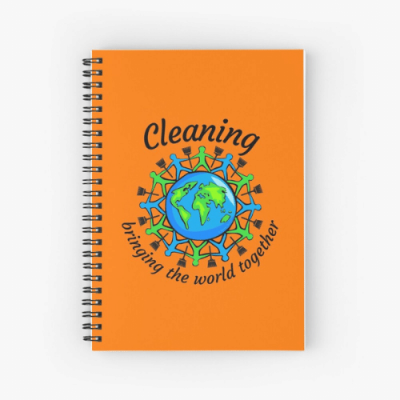 Bringing The World Together Savvy Cleaner Funny Cleaning Gifts Spiral Notebook