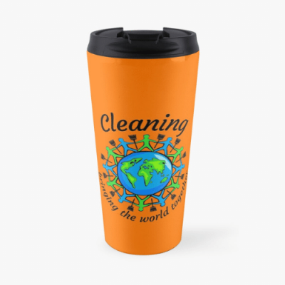 Bringing The World Together Savvy Cleaner Funny Cleaning Gifts Travel Mug