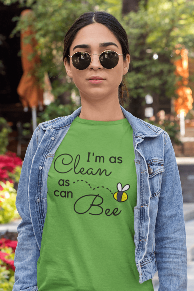 Clean As Can Bee Savvy Cleaner Funny Cleaning Shirts Women's Standard Tee