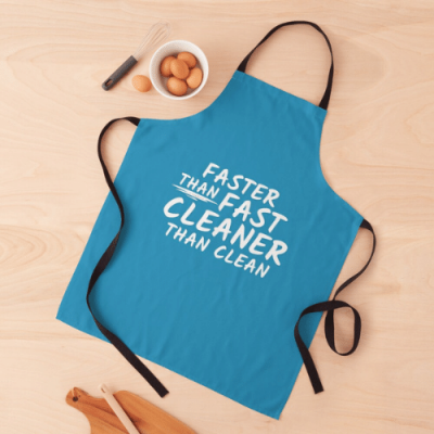Cleaner Than Clean Savvy Cleaner Funny Cleaning Gifts Apron