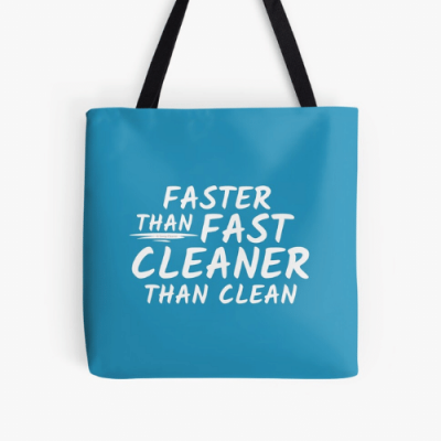 Cleaner Than Clean Savvy Cleaner Funny Cleaning Gifts Print Tote