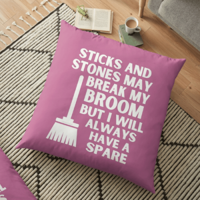 Have a Spare Savvy Cleaner Funny Cleaning Gifts Floor Pillow