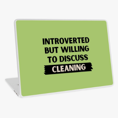 Introverted Savvy Cleaner Funny Cleaning Gifts Laptop Skin