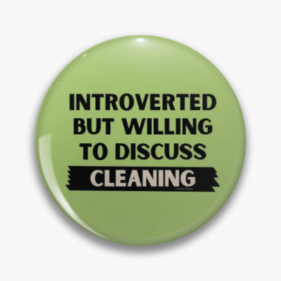 Introverted Savvy Cleaner Funny Cleaning Gifts Pin