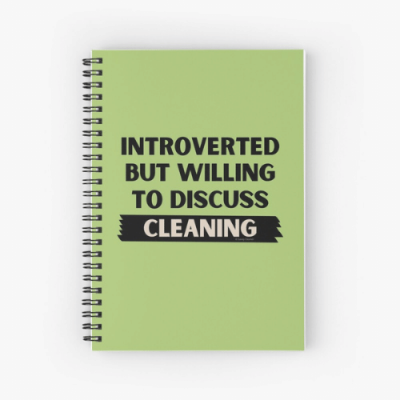 Introverted Savvy Cleaner Funny Cleaning Gifts Spiral Notebook