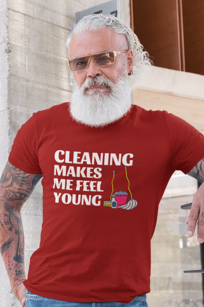 Makes Me Feel Young Savvy Cleaner Funny Cleaning Shirts Men's Standard T-Shirt