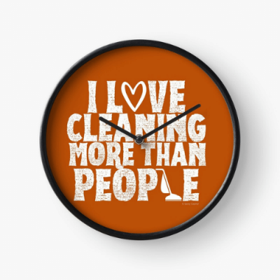 More Than People Savvy Cleaner Funny Cleaning Gifts Clock